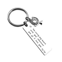 Couples Keychain You Carry My Heart with You Wherever You Go I Love You for Husb