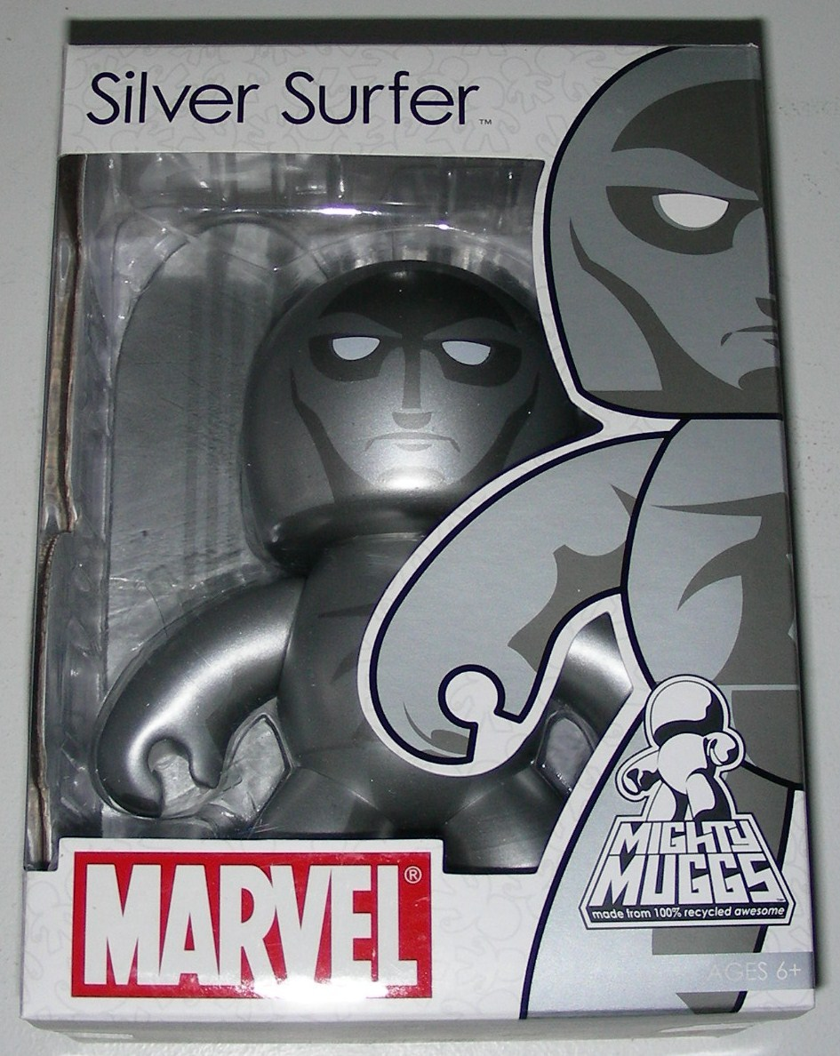 Marvel Universe Mighty Muggs Silver Surfer Vinyl Figure 2007 Wave 4 NEW Sealed