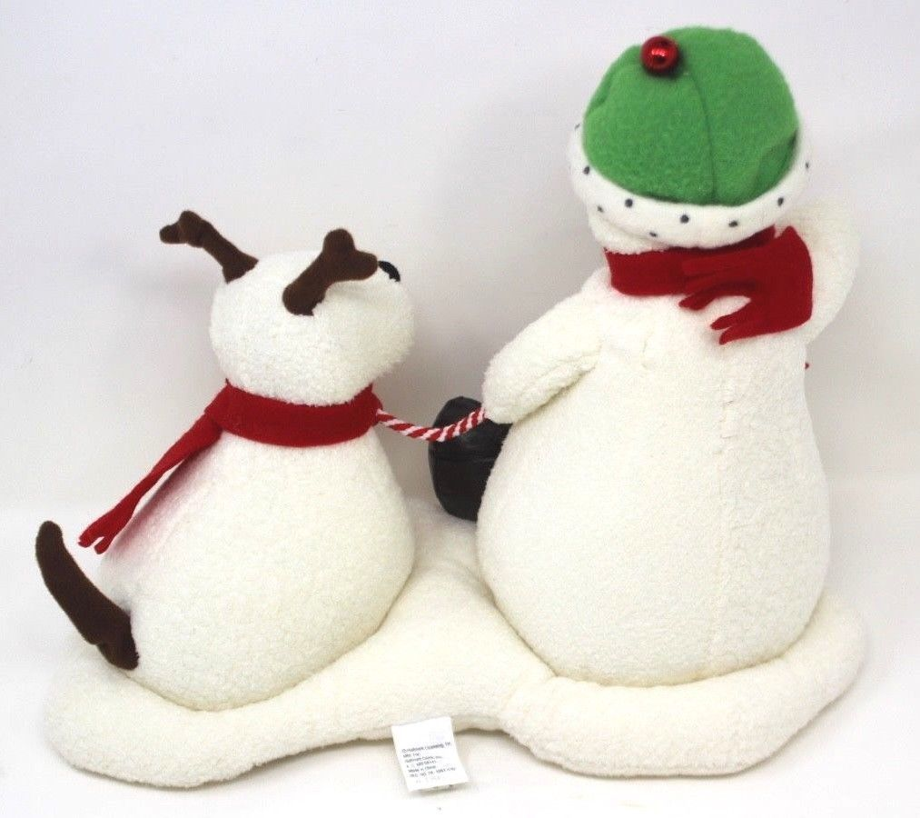 Hallmark Jingle Pals Snowman and Dog 2004 Plush Sound Motion Jingle Bells Xmas image 3
