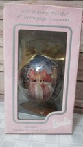 """1997 Holiday Barbie 4"""" Decoupage Ornament with wooden stand - In orig. Box  - $16.33"""