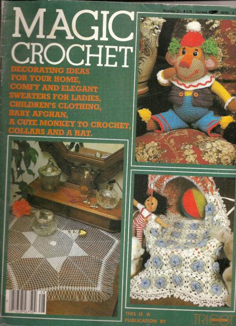 Crochet Home Magazine : Magic Crochet Magazine No 28 December 1983 Home Decor Crochet Patterns ...