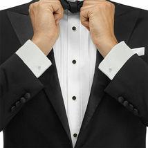 Boltini Italy Men's Premium Tuxedo Wingtip Collar Dress Shirt with Bow Tie image 3