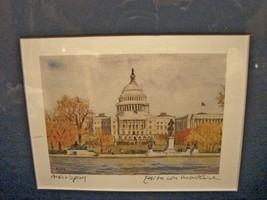 """""""The Capitol in Autumn"""" by Edita von Uslar-Gleichen Small Print Artist's... - $4.99"""