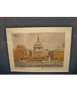 """The Capitol in Autumn"" by Edita von Uslar-Gleichen Small Print - $6.00"