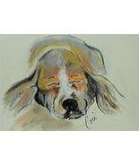Basset Hound Dog Art Pastel Drawing Framed Solomon - $110.00
