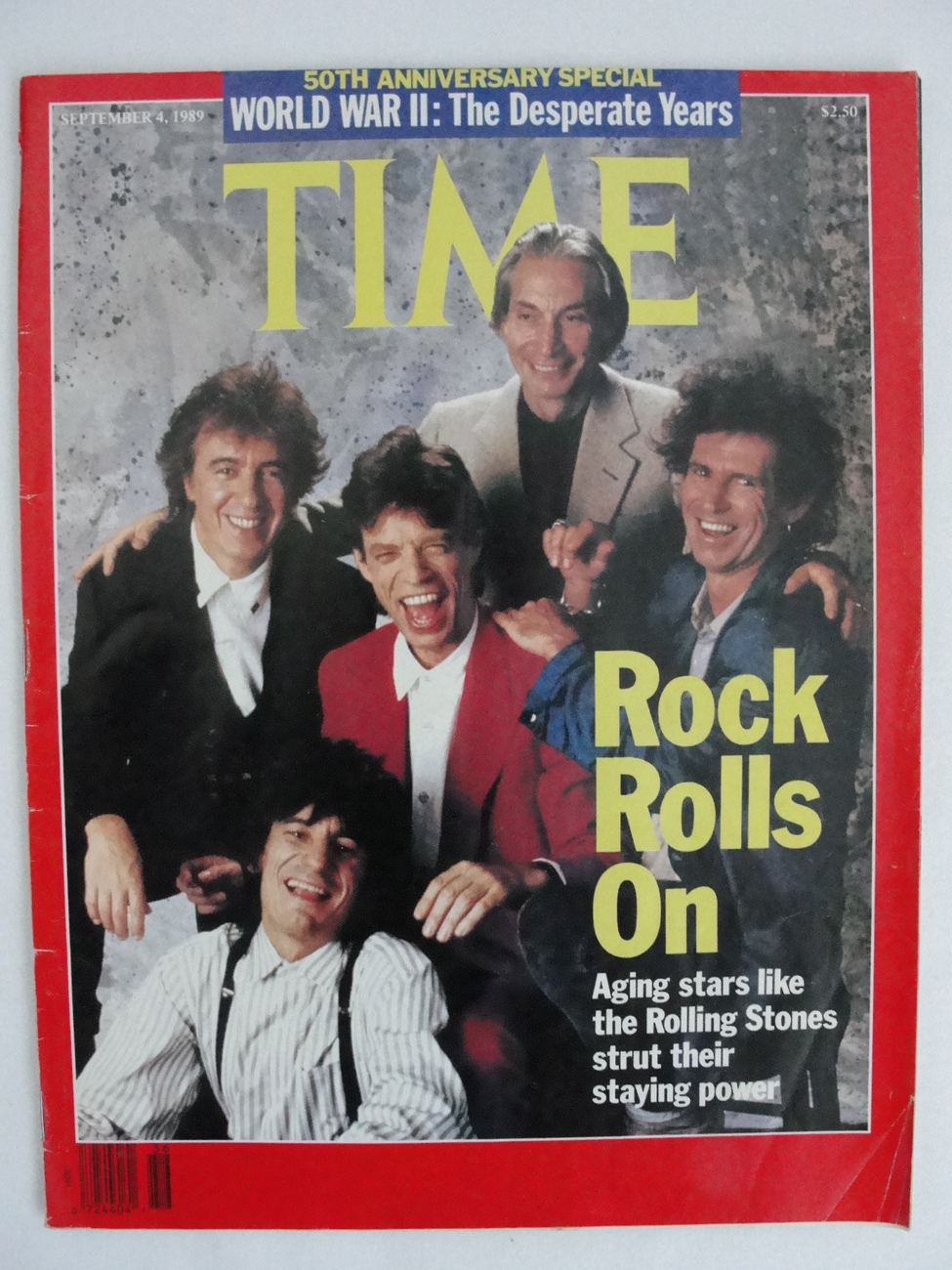 Magazine Time September 4 1989 Rolling Stones Cocaine 50th Anniversary WW2