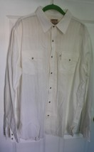 Levi's Authentic JeansWear XL Ivory Snap 100% Cotton Western Shirt - $24.70