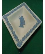 WEDGWOOD Light Blue Jasperware Mini  Triangle PIN TRAY ...FREE POSTAGE USA - $16.42