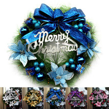 30CM Wreath Door Curtain Hanging Ornaments Xmas Flower - $28.95
