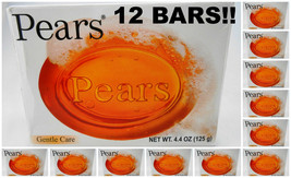12 BARS! Pears 125gm / 4.4oz Gentle Care Transparent IMPORTED Soap Bars ... - $24.00