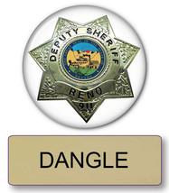 "RENO 911 DANGLE NAME BADGE & Lieutenant 3"" BUTTON HALLOWEEN COSTUME PIN ... - $13.36"