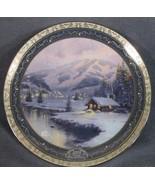 Olympic Mountain Evening Thomas Kinkade Collector Plate Bradford 84-B11-472.1 - $24.95