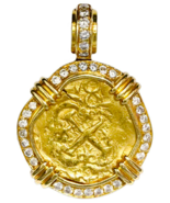 COLOMBIA 1706 2 ESCUDOS 1715 FLEET PENDANT GOLD COIN NECKLACE JEWELRY TR... - $9,950.00