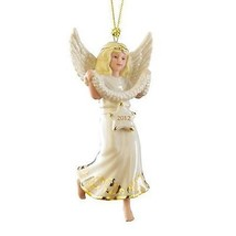 Lenox 2012 Angel Figurine Ornament Annual Stargazer Blonde Christmas NEW... - $35.64
