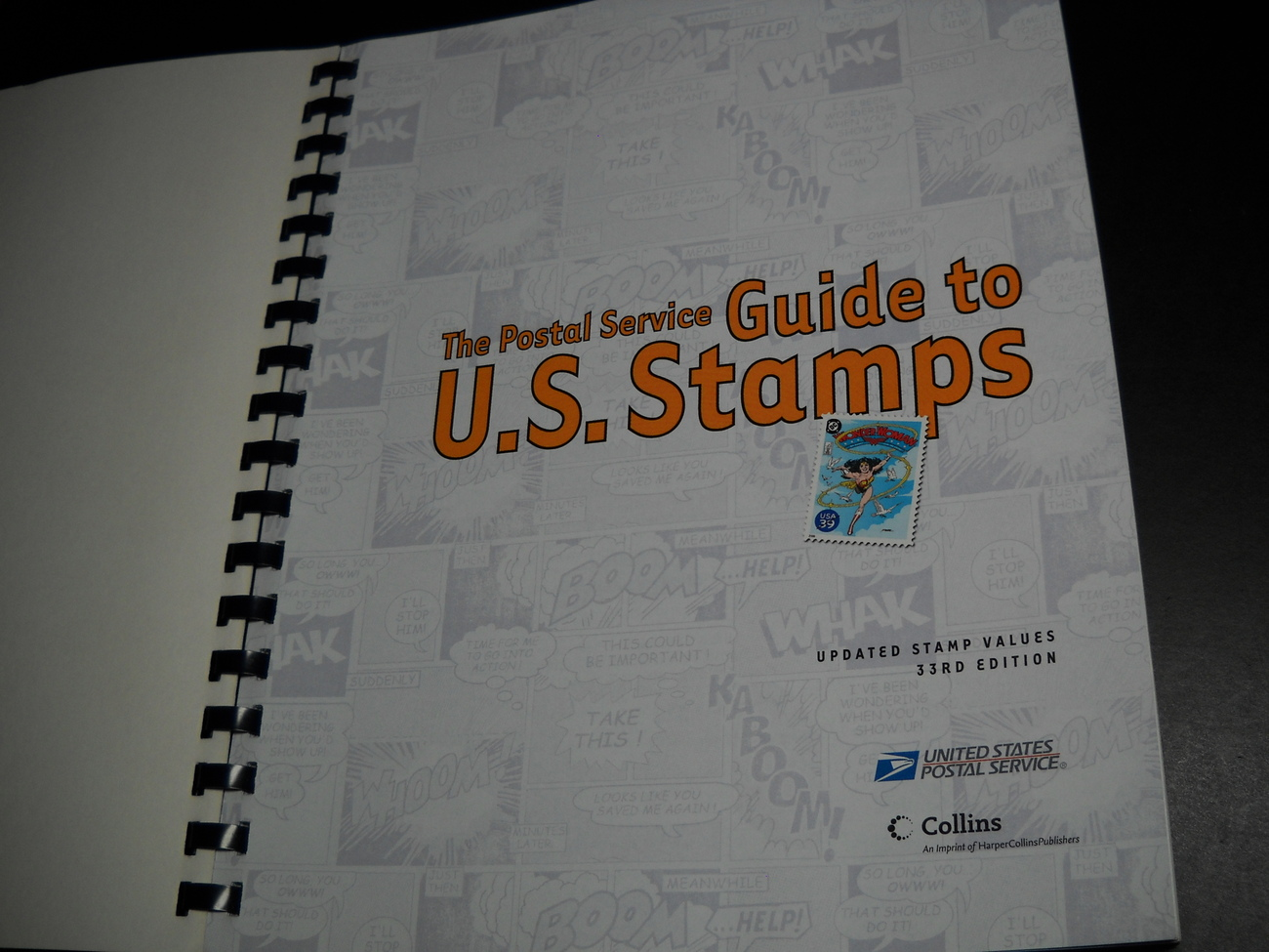 Postal Service Guide to US Stamps 33rd Edition 2006 Harper Collins Softcover