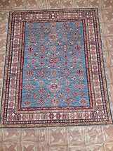 Common Room Cheap Rugs Area Rug 5x6 Super Kazak Carpet Hand Knotted - $516.54