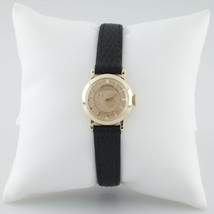 Longines 14k Yellow Gold Women's Mystery Dial Hand-Winding Watch w/ Leather Band - $1,117.22