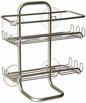 mDesign Suction Bathroom Shower Caddy, Storage for Shampoo, Conditioner,... - $13.24