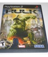 PS2 The Incredible Hulk Playstation 2 Game w/ Manual - $7.00
