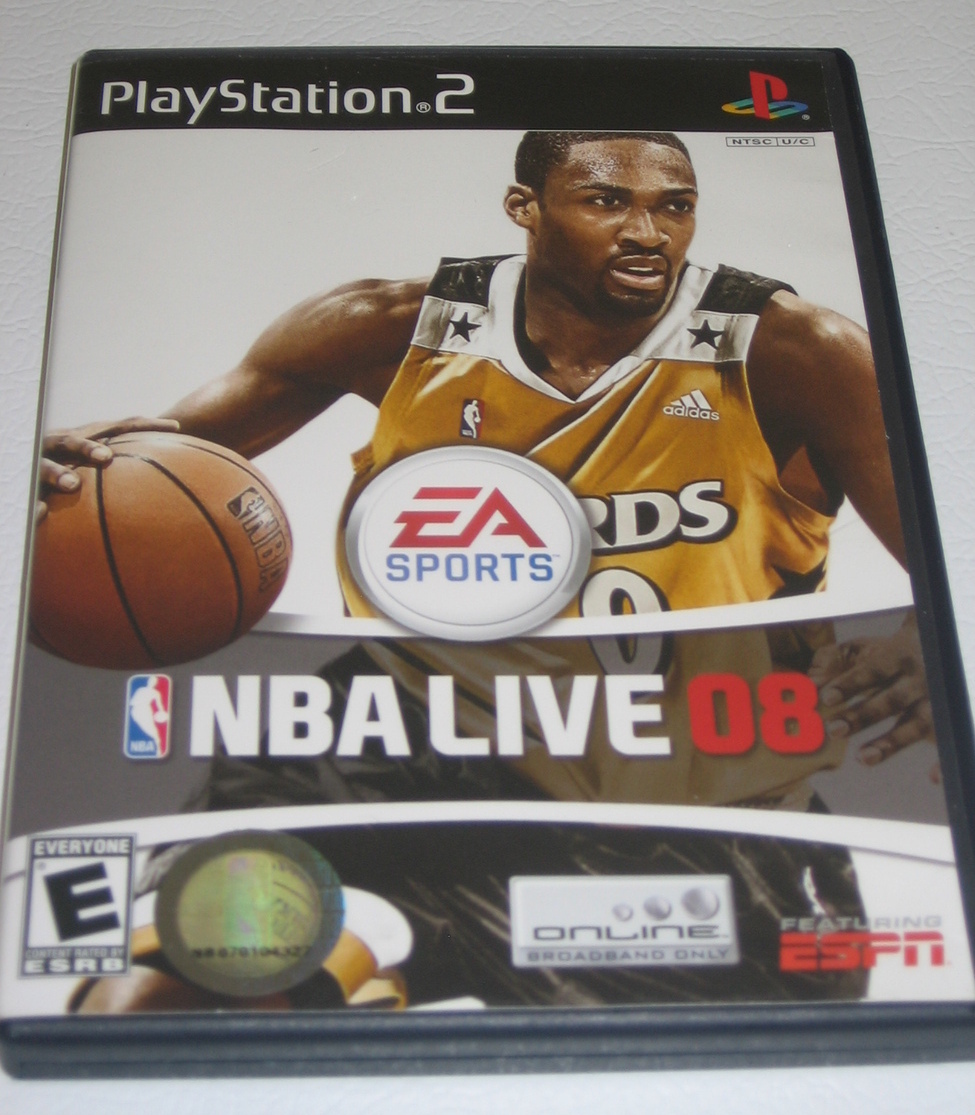 PS2 NBA Live 08 Playstation 2 Game w/ Manual Basketball