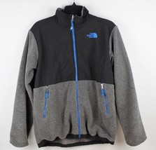 The North face youth kids blue zipper gray black fleece jacket size XL/T... - $27.72