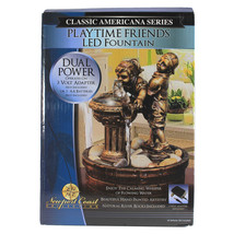 """NEW Classic Americana Series Bronze Playtime Friends 8"""" LED Relaxing Fountain - $29.99"""