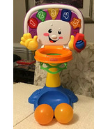 Fisher Price Laugh and Learn Adjustable Basketball Hoop: Includes 2 Ball... - $22.80