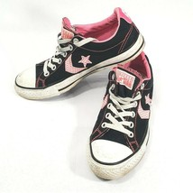 Converse All Star Low Top Sneakers Chuck Taylor Pink Black Woman's 8 Mens 6 - $37.01