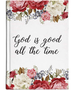 GOD IS GOOD RELIGIOUS FLORAL HARDCOVER JOURNAL - $18.80