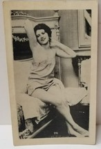 Vintage Risque Photo Flirting on the Bed Lingerie Early P.C. Paris  - $24.74