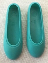 Vintage Barbie Skipper Turquoise Flats Shoes~~TAIWAN  154-21 - $10.00