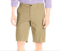 $50 Dockers Men's Cargo Flat-Front Short, Khaki, Size 32. - $24.74