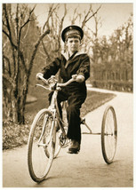 Tsesarevich Alexis on the bike Russian Romanov Royalty Postcard - $1.23