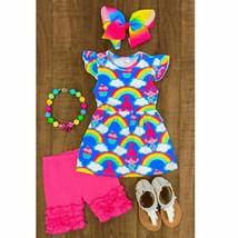 Toddler Baby Boys Girls Rainbow Tutu Tops T-shirt Short Pants 2PCS Outfi... - $12.61+