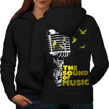 Freedom Saying Song Music Sweatshirt Hoody Microphone Women Hoodie Back - $21.99+