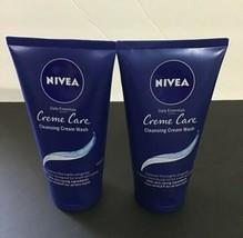 2x NIVEA CREME CARE CLEANSING CREAM FACIAL WASH DAILY ESSENTIALS 5oz Each - $14.00