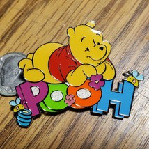 UK Disney Store Winnie The Pooh Sleeping on his Name Pin from 2003 - $48.37