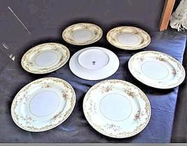 Noritake China Nana Rosa Pattern # 682 Dinner Plates AB 336-D Vintage
