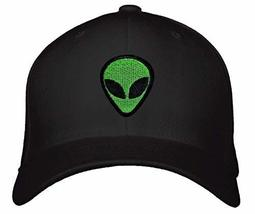 Alien Face Head Hat - Black Adjustable Cap - $17.05