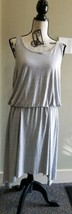 Michael Kors Gray Dress Elastic Waist Sharkbite Hem Size Large - $14.85
