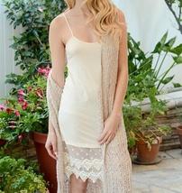 Ivory Lace Slip Dress, Lace Trim Dress, Dress Extender, Slip Extender