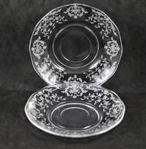 "Set of 2, Navarre No. 327, 5.75"" Saucers, made by Fostoria - $7.00"