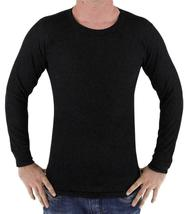 Men's Long Sleeve Thermal Underwear Light Weight Solid Shirt image 3