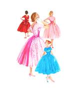 1950s Vintage Simplicity Sewing Pattern 1795 Junior Fit Flared Dress V-N... - $29.95