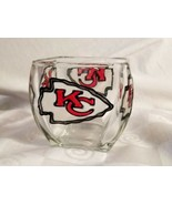 Kansas City Chiefs Art Glass Nut Candy Bowl Glass Logo Flag - $61.70