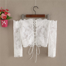 Off Shoulder Long Sleeve Lace Crop Top Bridal Crop Lace Top image 2