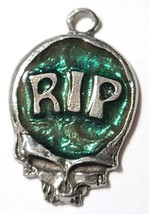 RIP Skull Fine Pewter Pendant Approx. 1 5/8 inches tall image 2
