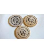 VTG Quality Inn Florida Set of 3 Wooden Indian Nickel Coins - $16.63