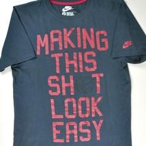 Nike Basketball Making This Shot Shite Look Easy S T-Shirt Small Mens Re... - $18.26
