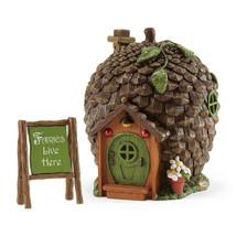 Fairy Garden Gnome, Hobbit Fairies -Enchanted Guardian Pine Cone House w... - $42.00